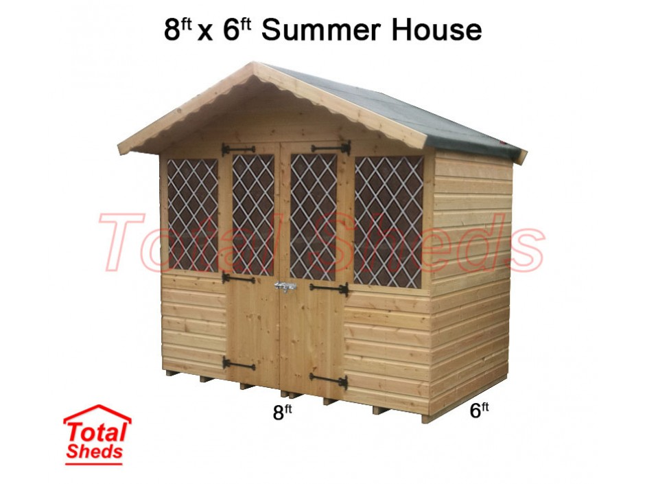8ft X 6ft Supreme Summer House