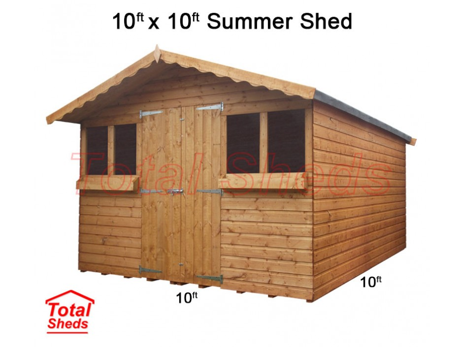 10ft X 10ft Summer Shed