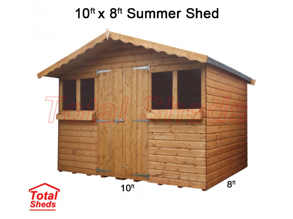 10ft X 8ft Summer Shed