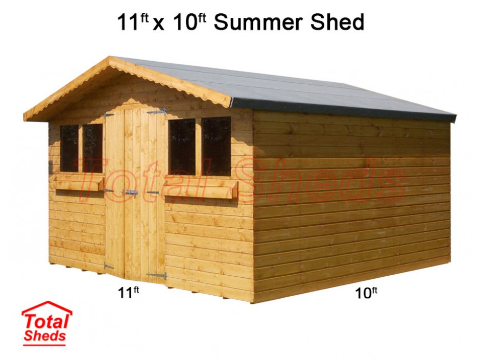 11ft X 10ft Summer Shed