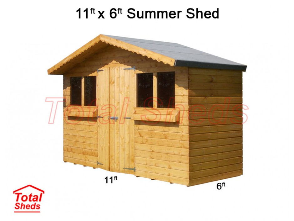 11ft X 6ft Summer Shed