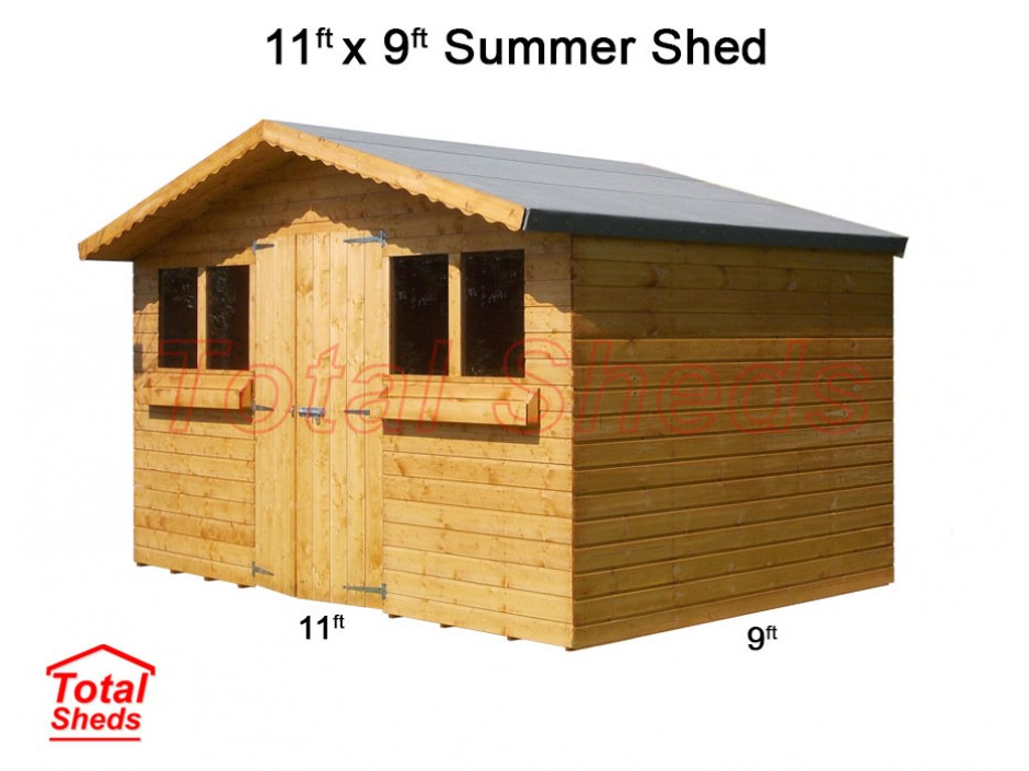 11ft X 9ft Summer Shed
