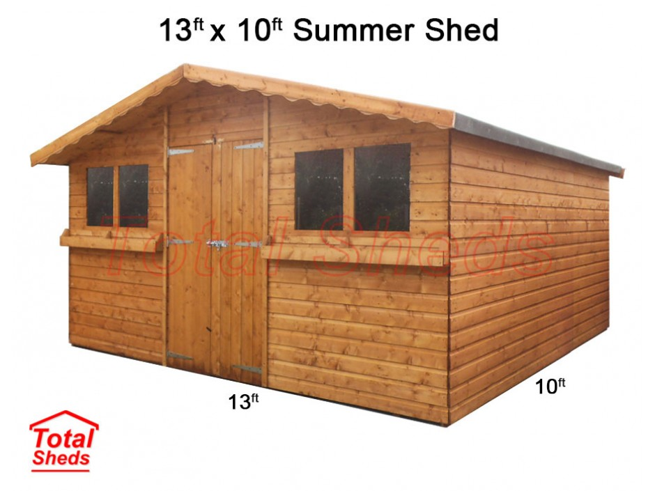 13ft X 10ft Summer Shed