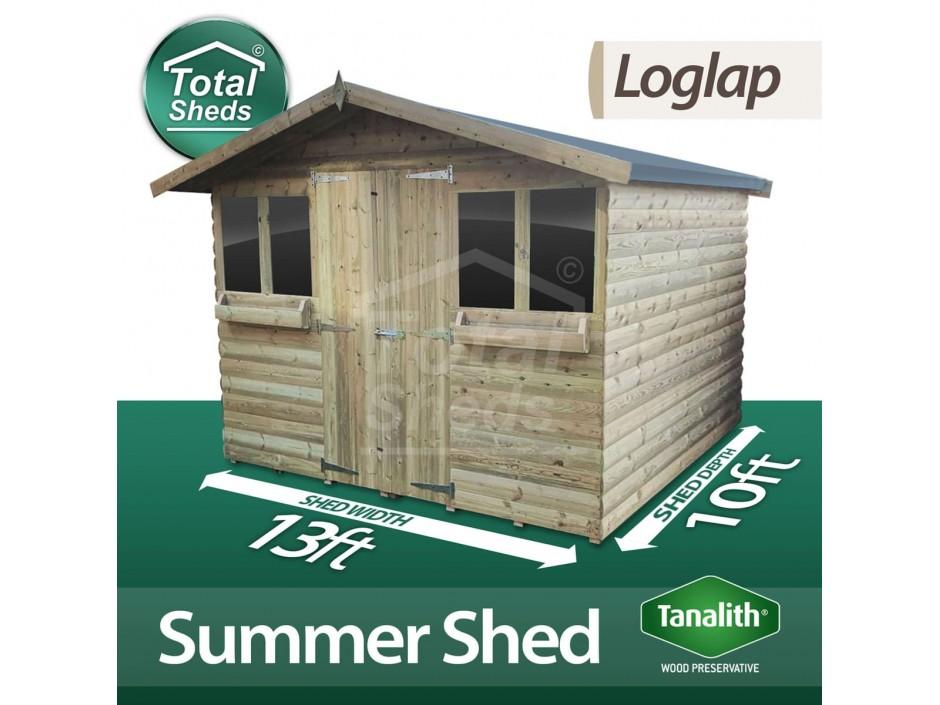 13ft X 10ft Loglap Summer Shed