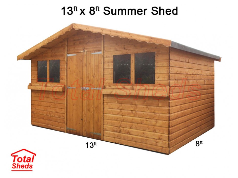 13ft X 8ft Summer Shed