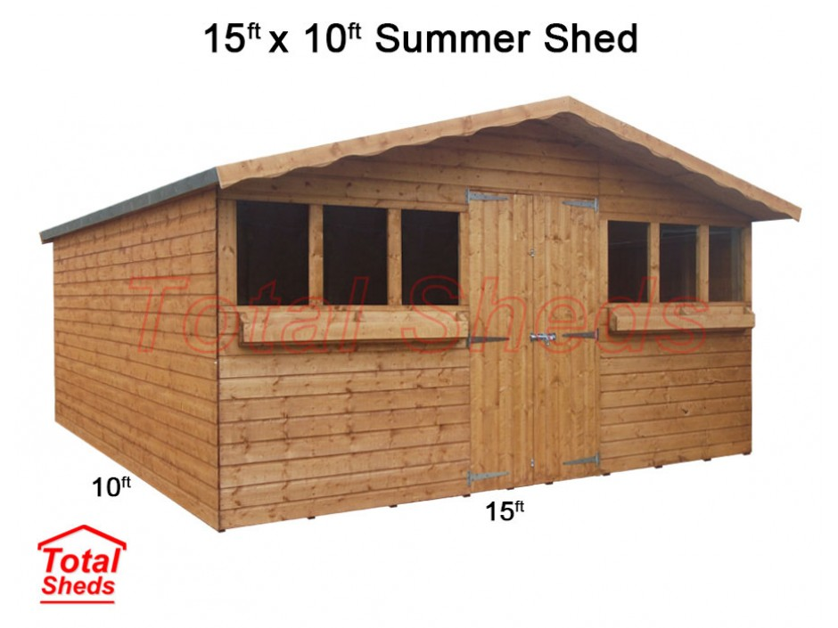 15ft X 10ft Summer Shed