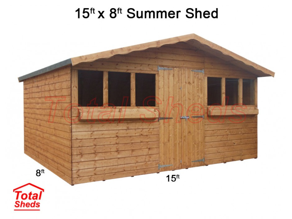15ft X 8ft Summer Shed
