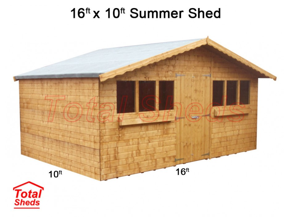 16ft X 10ft Summer Shed