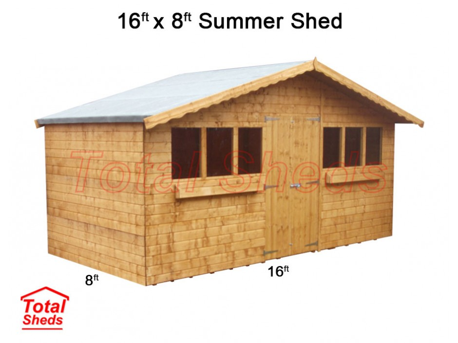 16ft X 8ft Summer Shed