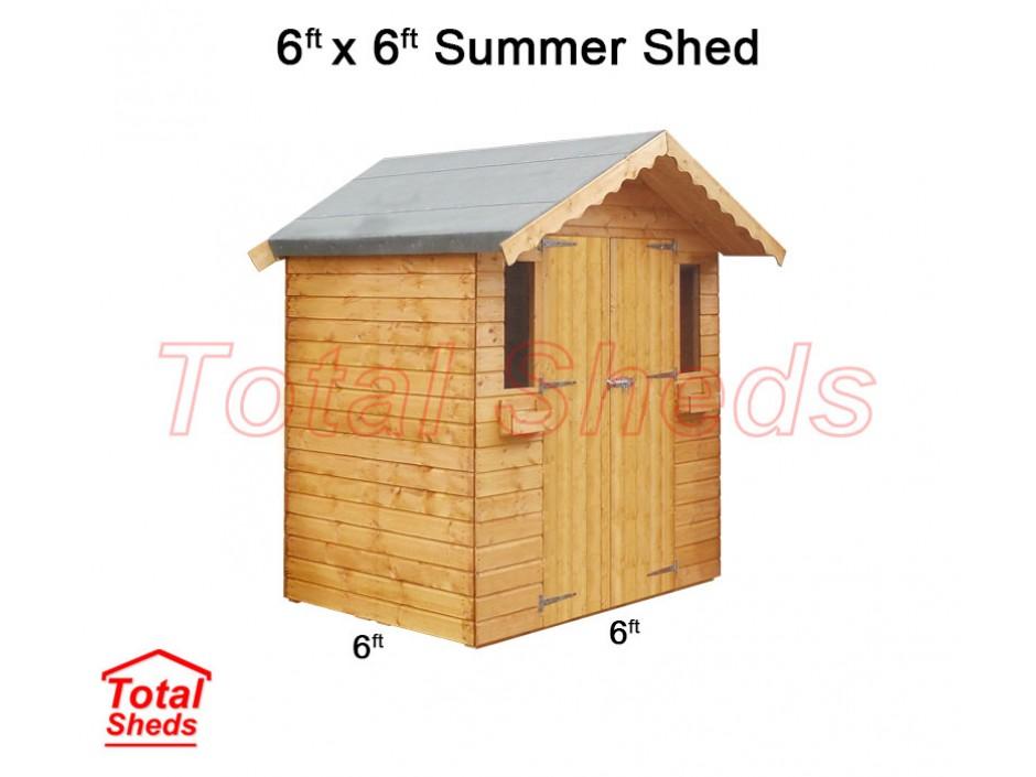 6ft X 6ft Summer Shed