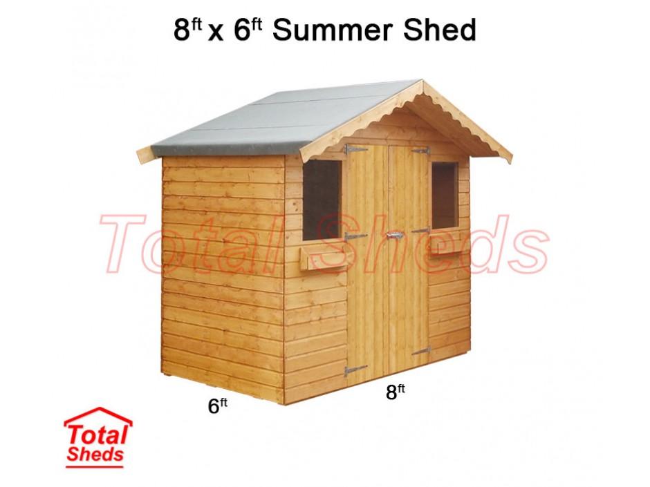 8ft X 6ft Summer Shed