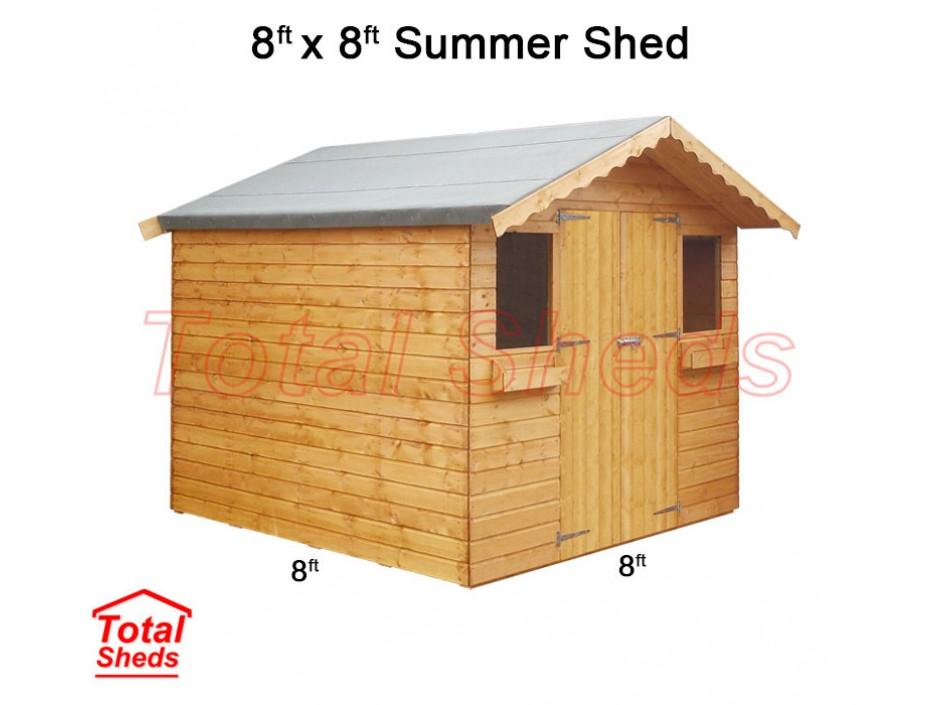 8ft X 8ft Summer Shed