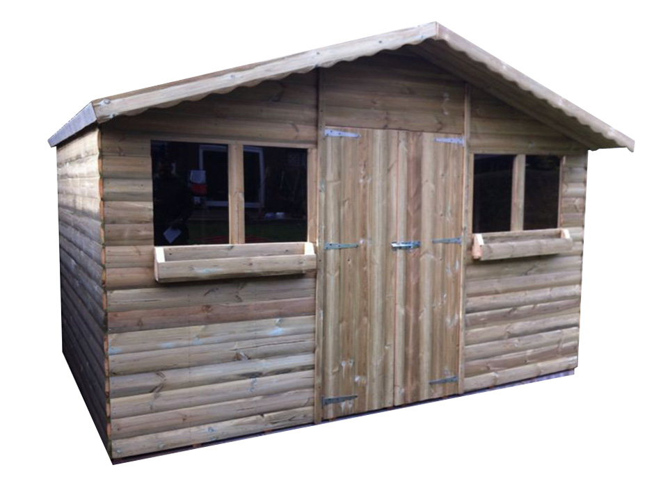 12ft X 10ft Loglap Summer Shed