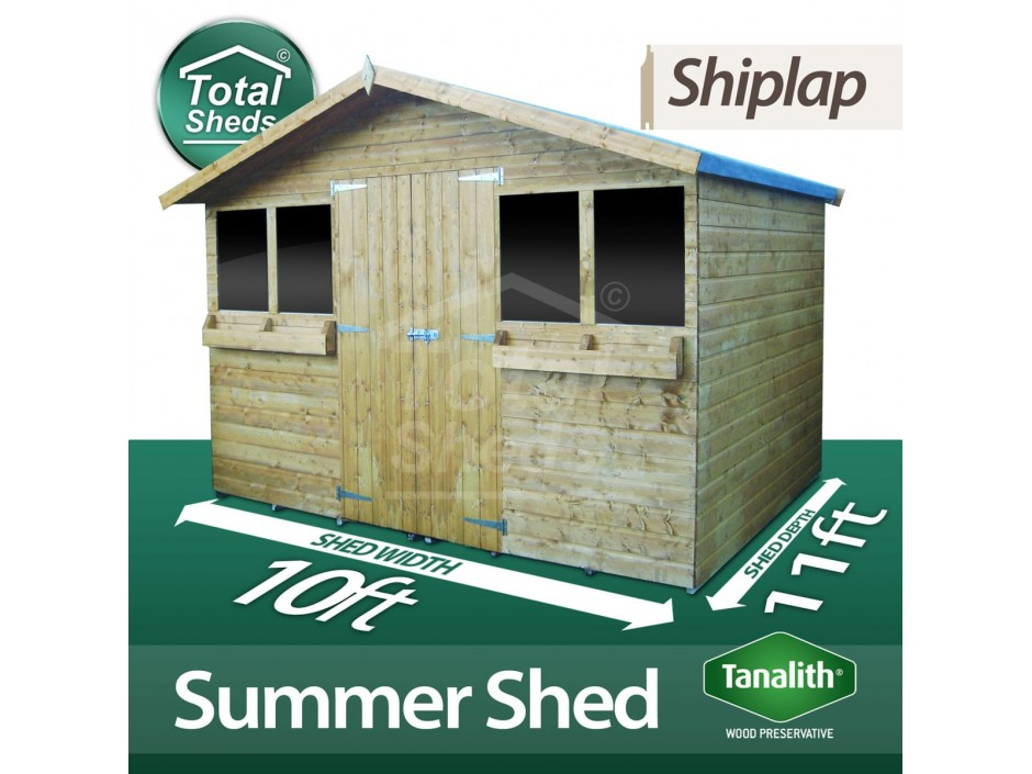 10ft X 11ft Summer Shed