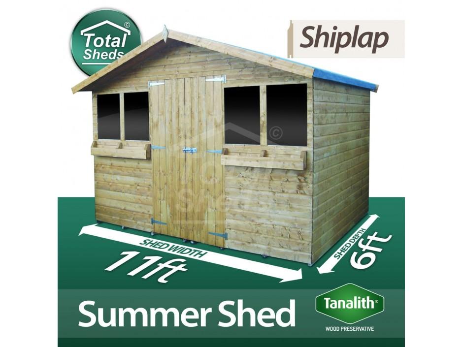 11ft X 6ft Summer Shed