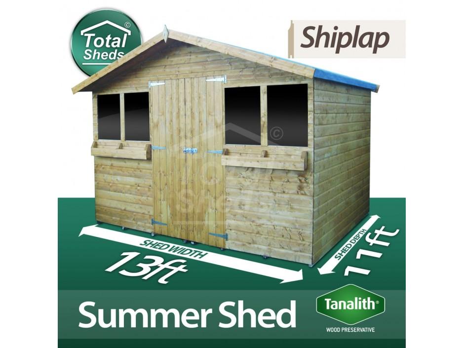 13ft X 11ft Summer Shed