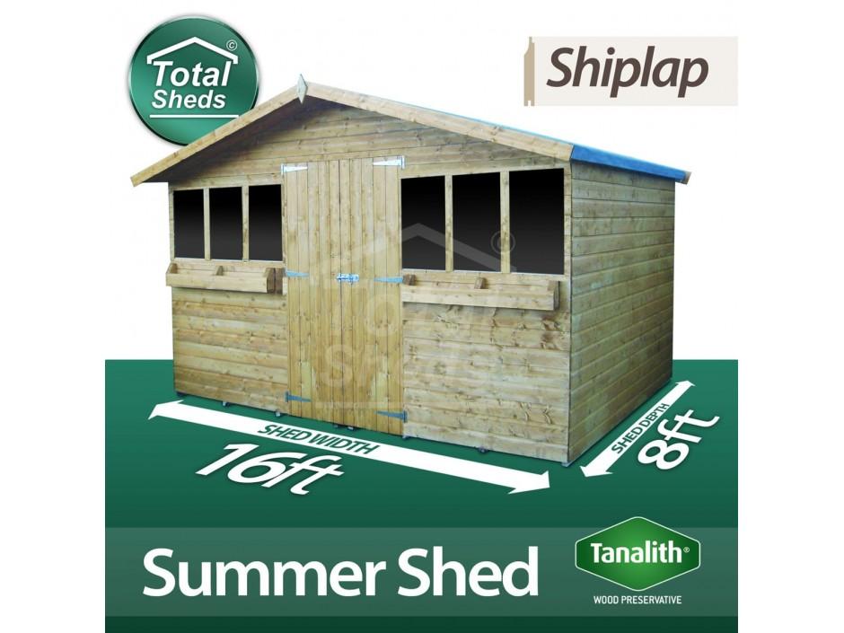 16ft X 8ft Summer Shed