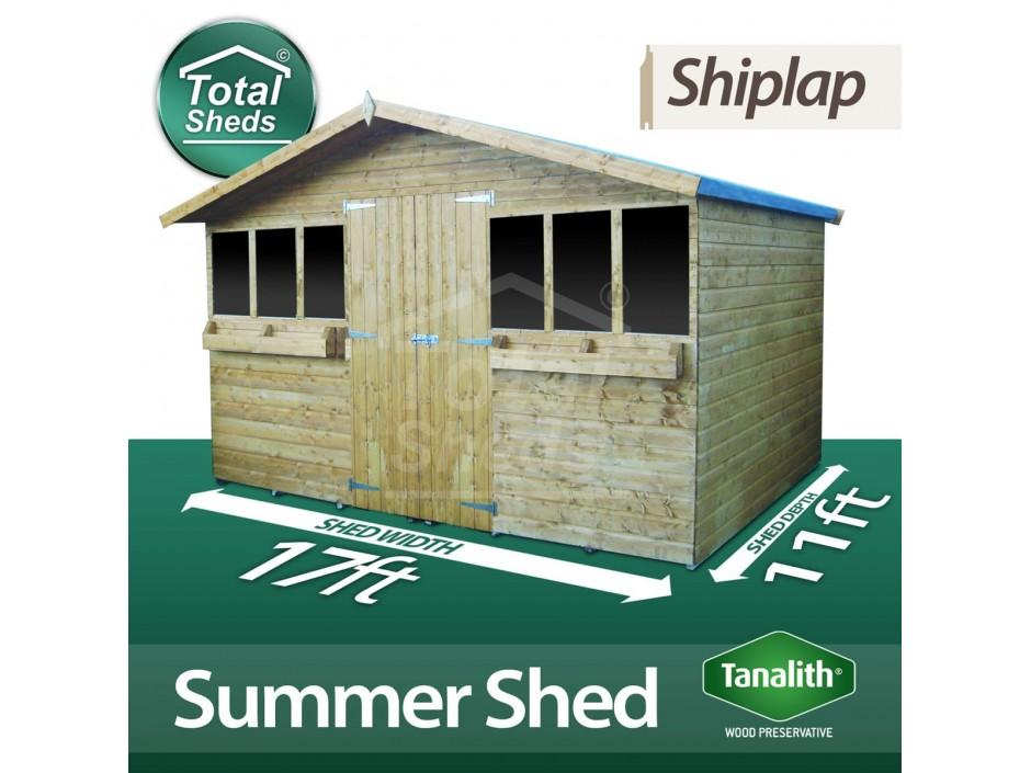 17ft X 11ft Summer Shed