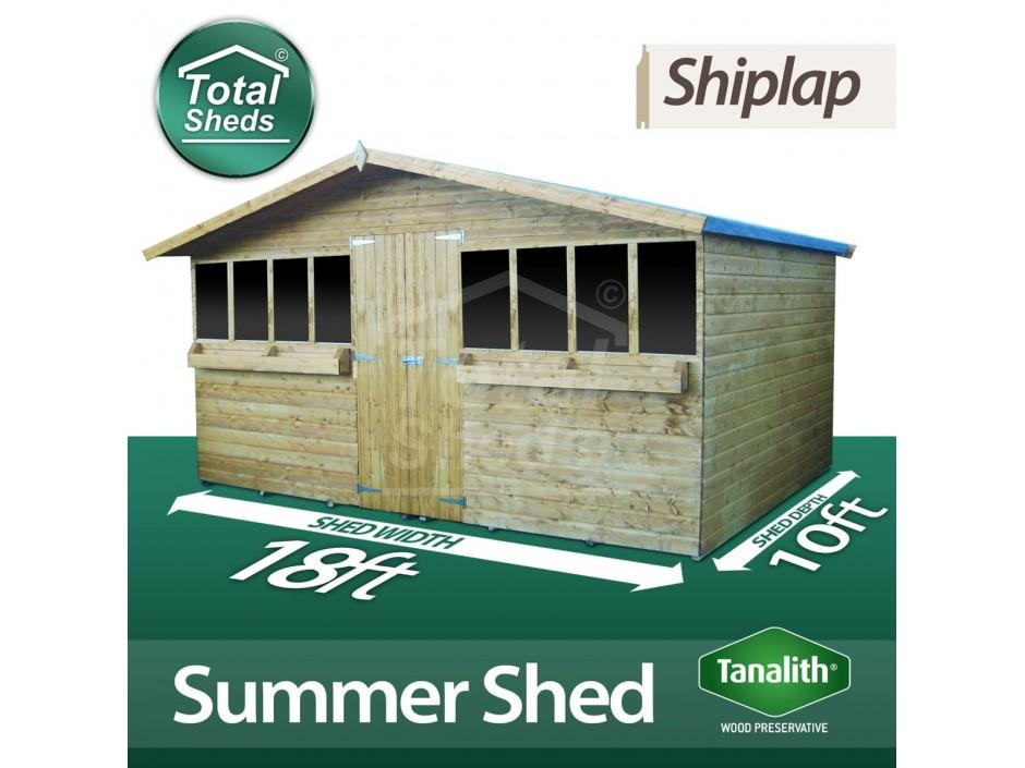 18ft X 10ft Summer Shed