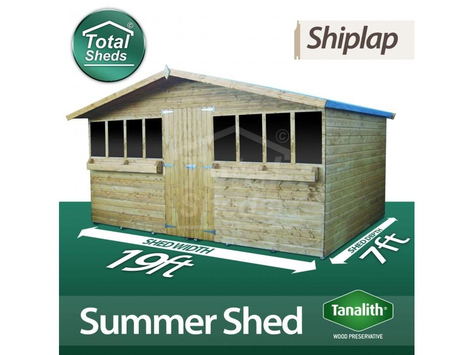 19ft X 7ft Summer Shed