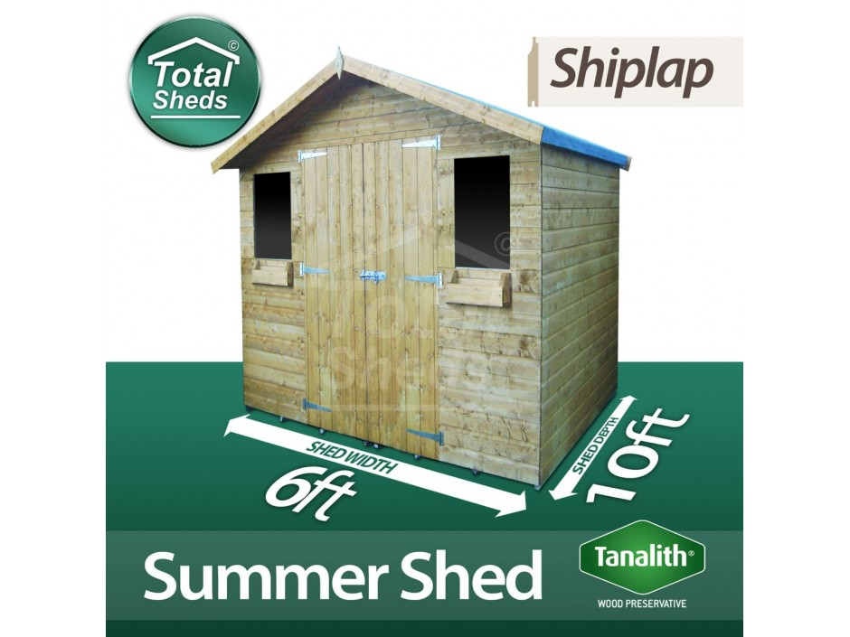 6ft X 10ft Summer Shed