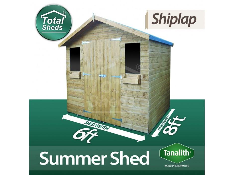 6ft X 8ft Summer Shed