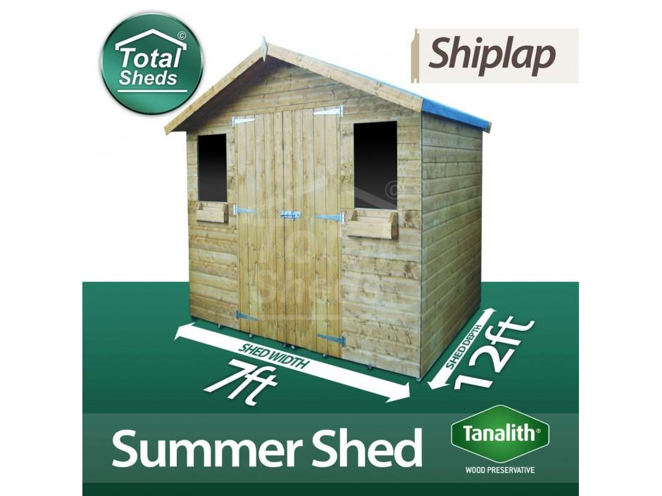 7ft X 12ft Summer Shed