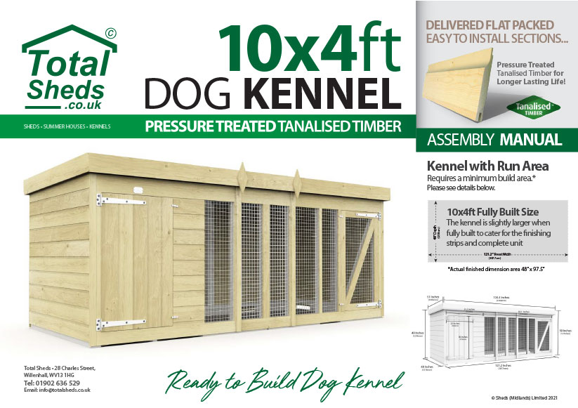 10ft x 4ft F&F Dog Kennel assembly guide