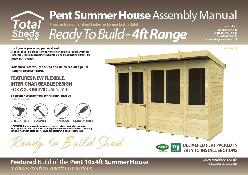4ft Summer House assembly guide