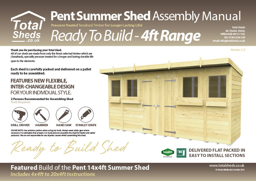 4ft Summer Shed assembly guide