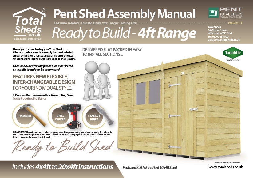 6ft Pent Shed Installation Guide