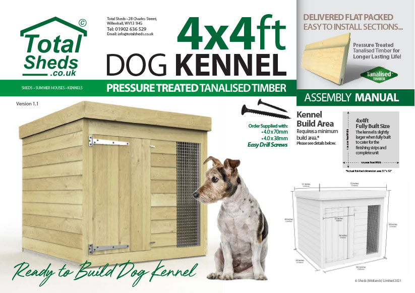 4ft x 4ft F&F Dog Kennel assembly guide