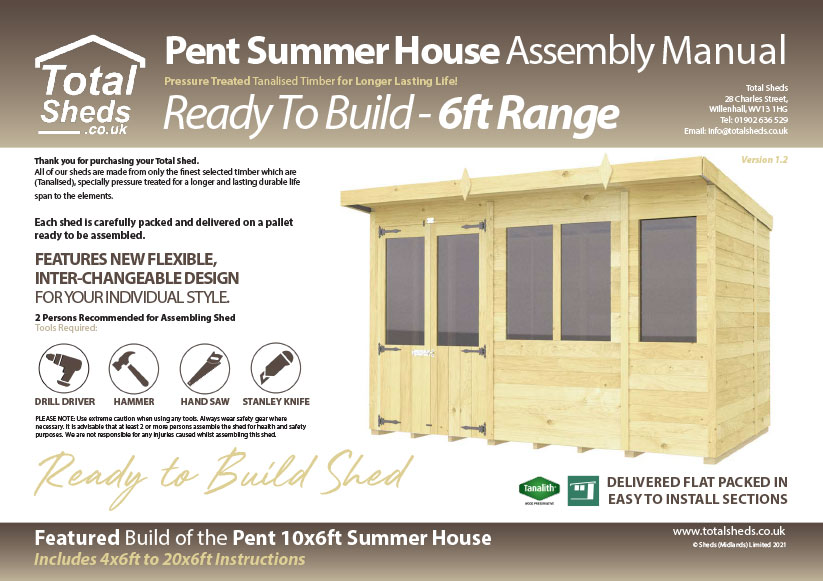 6ft Summer House assembly guide