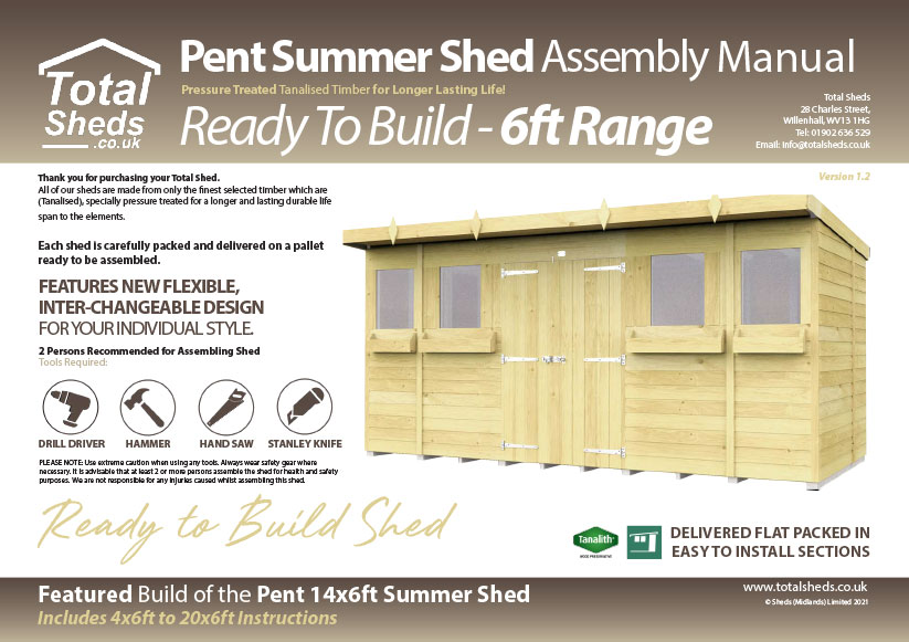 6ft Summer Shed assembly guide
