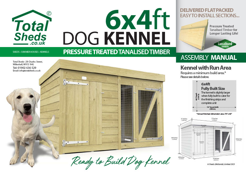 6ft x 4ft F&F Dog Kennel assembly guide