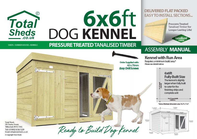 6ft x 6ft F&F Dog Kennel assembly guide