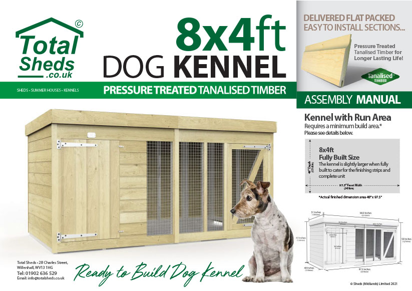8ft x 4ft F&F Dog Kennel assembly guide